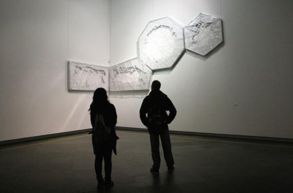 艺术家原弓2013年在广东美术馆的个展现场