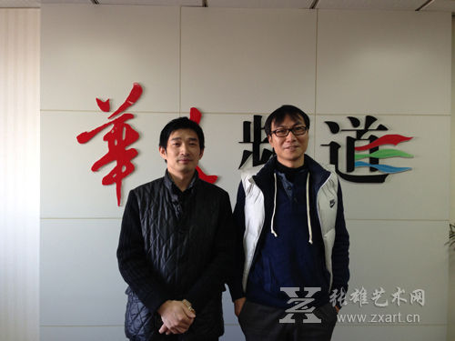 张雄艺术文化有限公司董事长张雄先生与央视网华人频道总制片人方庆先生成功签约