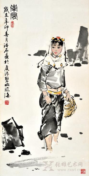 杨浩石 南风(100×52cm)