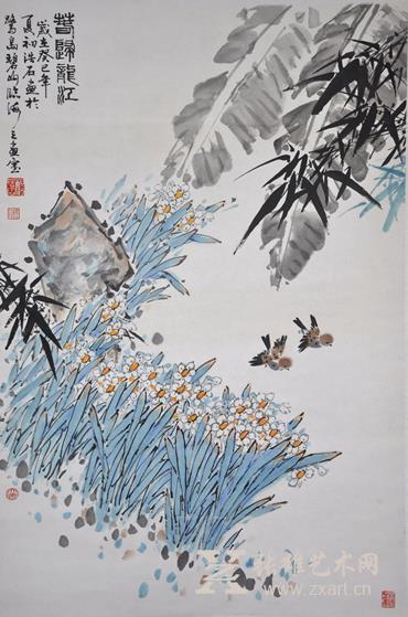 杨浩石 春归龙江(120×69cm)
