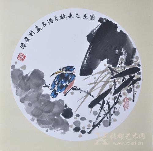 杨浩石 荷趣(1.2平尺)