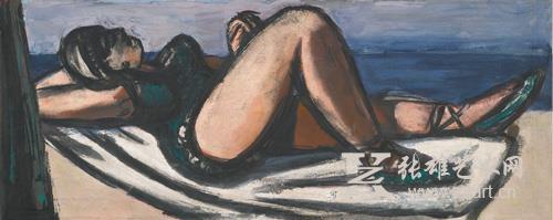 马克思∙贝克曼 《沙滩上的酣睡者(沙滩上的库娃毕)》