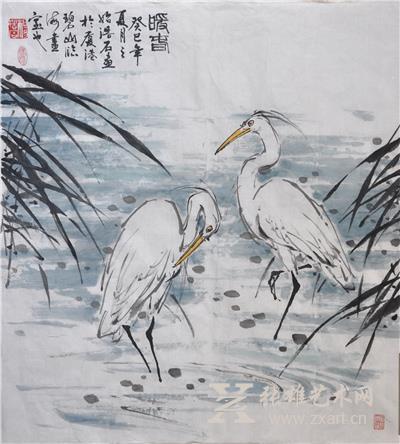 暖春森林动物绘画