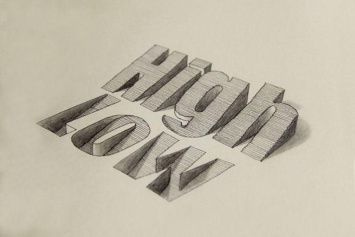 逼真立体3d字体设计:仿佛可以触摸到图片