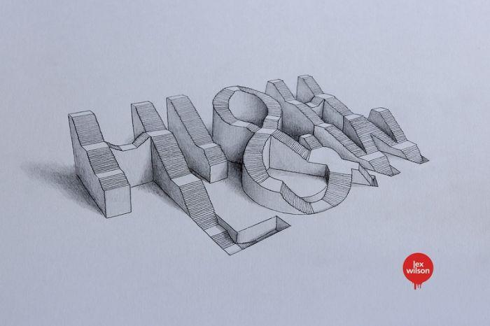逼真立体3d字体设计:仿佛可以触摸到