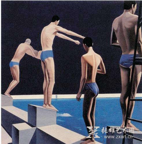 张培力 《仲夏的泳者》 1985