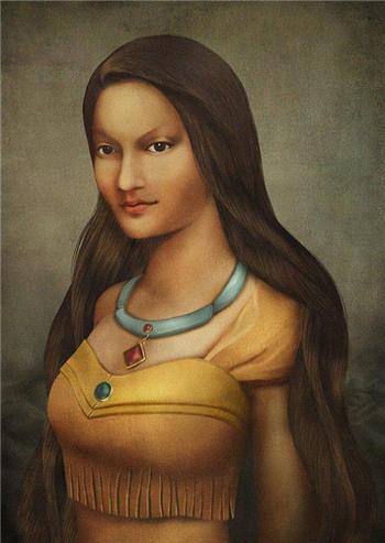 文艺复兴style的迪士尼公主
