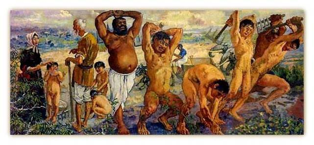 徐悲鸿 1940年作 愚公移山 油画