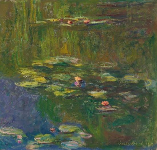 莫奈作品《睡莲池塘》