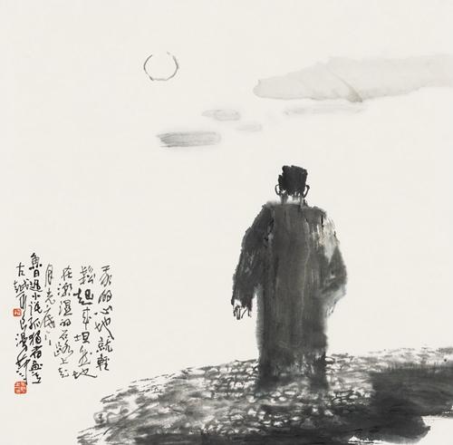 为中国人物画教学作出了重要贡献,同时他将意笔线描技法大量运用到了