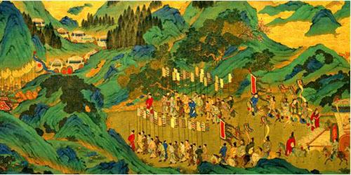 明代 《汉武帝上林出猎图》 现藏台北故宫博物院