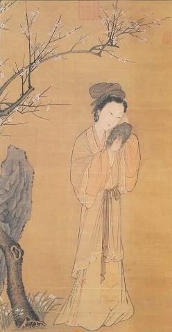 《梅花仕女图》 台北故宫博物院藏