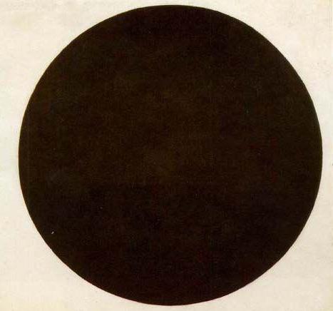 马勒维奇,黑色圆圈,1915,现藏于圣彼得堡俄罗斯国立博物馆