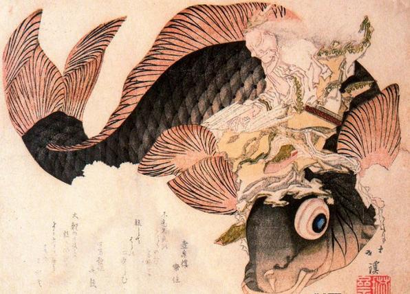 日本浮世绘版画-版画的 速度图片