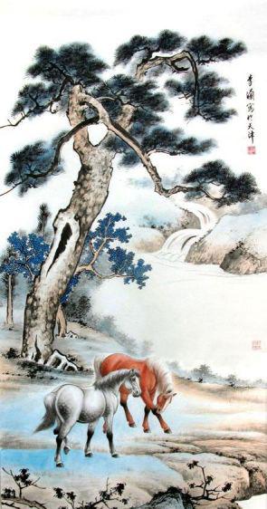 韩国木槿花工笔