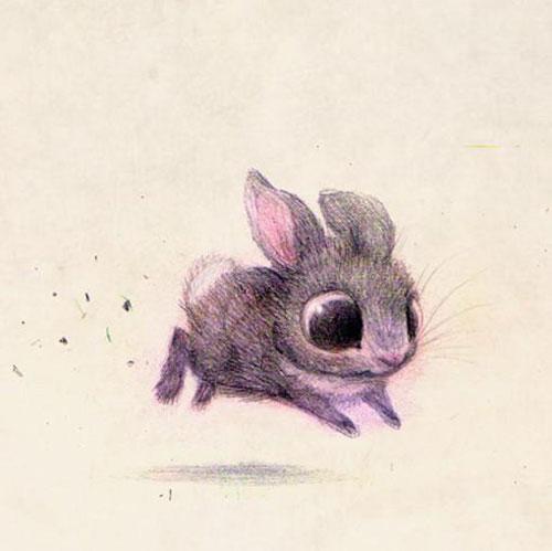 插画师瞬间让看似不温顺的小动物变萌萌哒