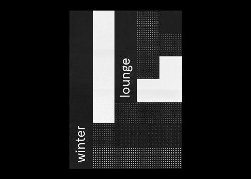 高逼格的黑白色调英文字体海报设计图