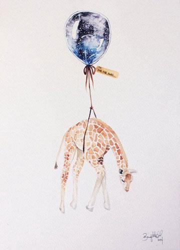 气球和小动物私奔了