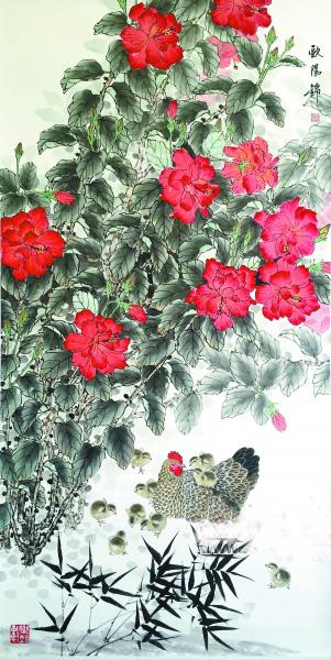 花鸟画市场竞争激烈 中青年画家潜力大