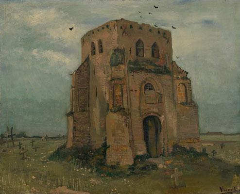 梵高《古教会的塔》
