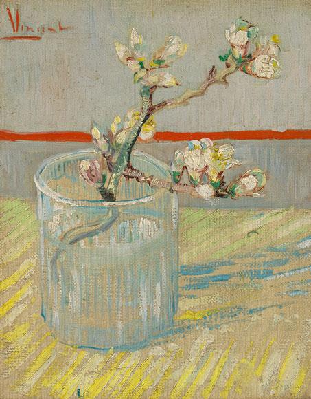梵高《正在开花的一小杏枝》