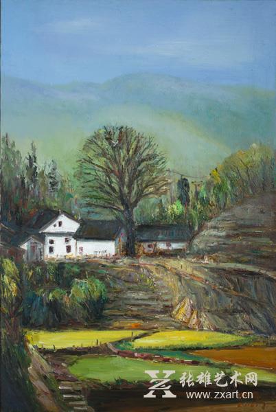 李明旺《幸福家园》--60x90cm - 副本  油画