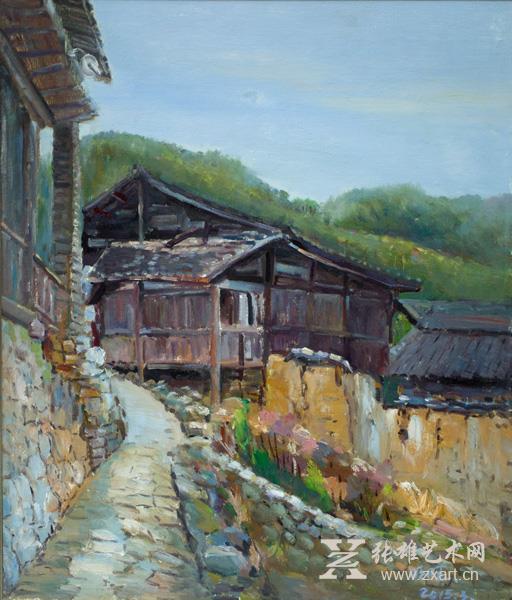 李明旺 《老房子》-50x60cm 油画