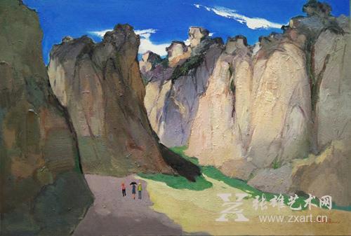 李舜强  《六鳌胜景》 100x150cm 油画