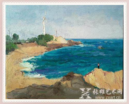 李舜强  《 观潮  》65x80cm 油画
