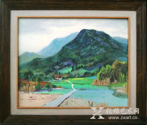 林艺鑫 《山春》65X80cm 油画