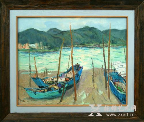 林艺鑫 《待潮》65X80cm 油画