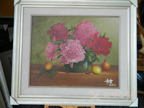 林志勇  《丹艳》60x76cm  油画