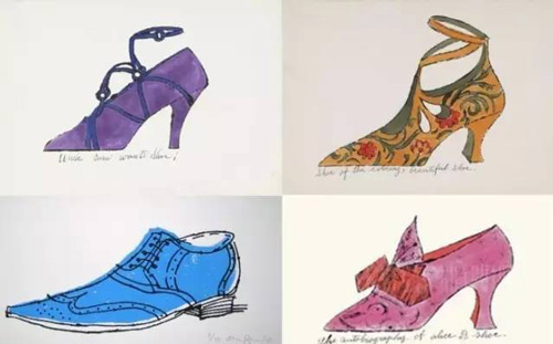 安迪·沃霍尔绘制的鞋履作品