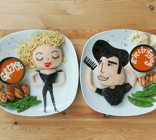 可爱 食物艺术家利用食物创造人物肖像