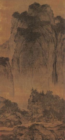 山水画石头画法雨点皴-中国山水画山石勾皴及树法的演变图片