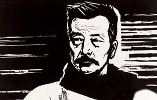赵延年 鲁迅像版画 29.4×42.4cm 1961年