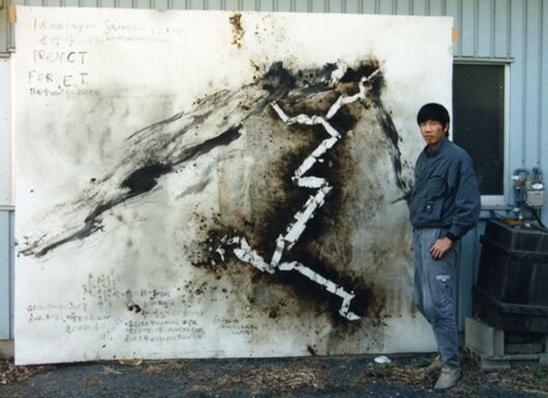 蔡国强《罂粟系列:幻觉第一号》(Cai Guo-Qiang,Poppy Series Hallucination No.1,2015)。