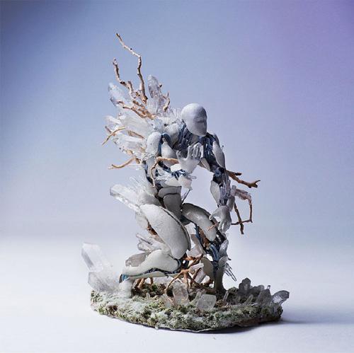 用3d打印和手工制作出与人体共生的树木