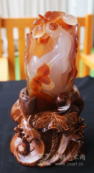 玛瑙雕刻大师赛雕刻作品评选及拍卖活动13日开启
