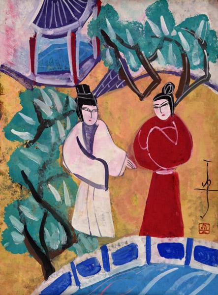中国戏曲人物画年展在上海拉开帷幕