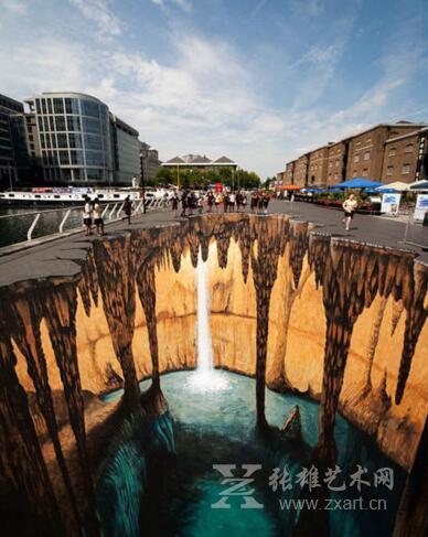 国外街头的3d艺术画