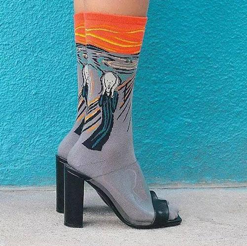 袜子也艺术 如何搭配是个大问题