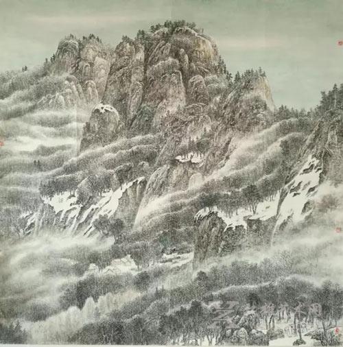 """2015年作品《家园》入展中国美术家协会主办的""""中国梦黄山魂""""全国山水"""