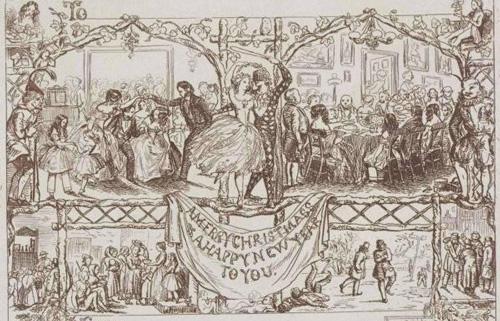 1848年William Maw Egleys设计的圣诞卡片铅笔稿