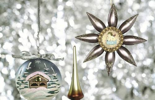 1900-1903年左右,德国地区的玻璃制圣诞装饰