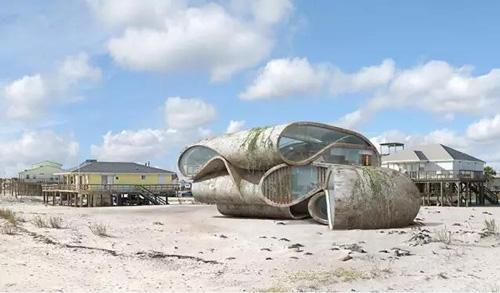 他设计的超现实建筑 很有未来风格!