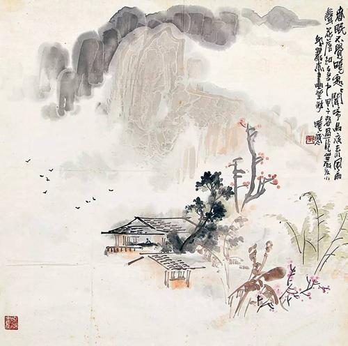LOT64 张晓寒(1923-1988) 春晓1984年作
