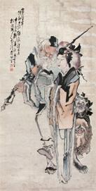 LOT117 李霞(1871-1938) 晋寿图1910年作