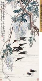 LOT270 王震(1867-1938) 紫藤飞燕1925年作