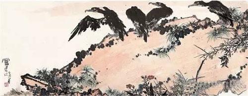 潘天寿 《鹰石图》